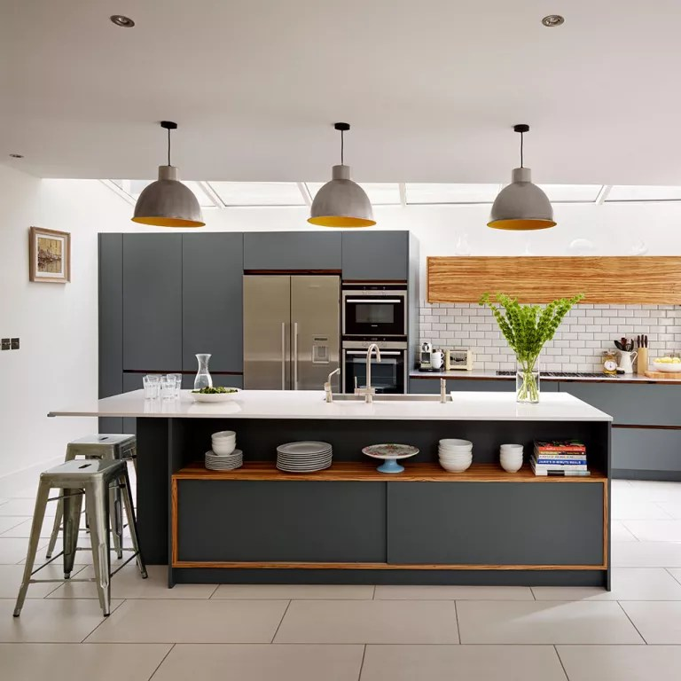 grey kitchen tile black cabinets ideas 16 for kitchens that are stylish and