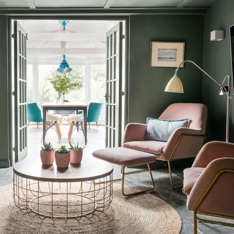 Dark Green And White Living Room Ideas Novocom Top