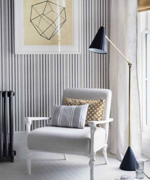 wall living decor modern grey statement cool decorating pinstripes transform update guardian space bevan simon credit bedroom