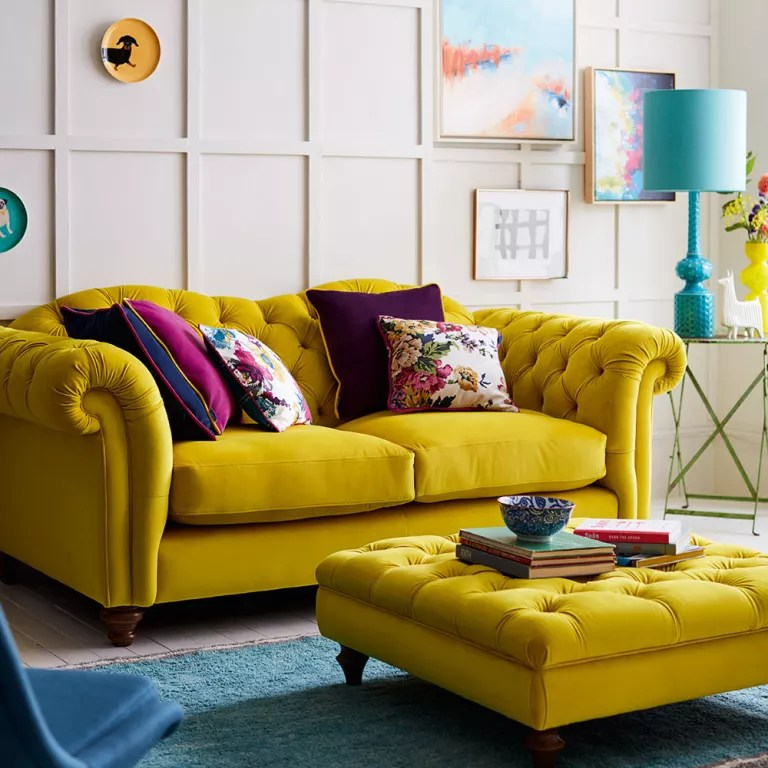 The Yellow Sofa Is Shining Bright In Our Homes This Summer