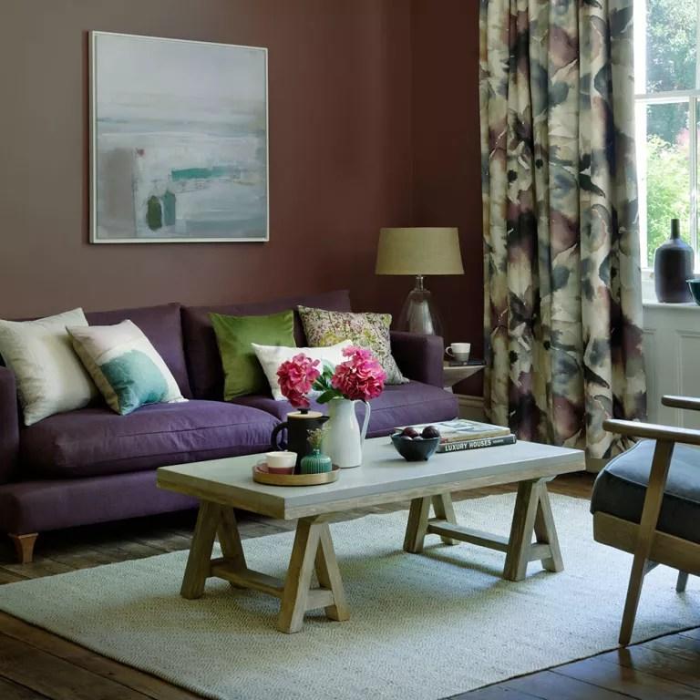 Purple living room ideas  Ideal Home