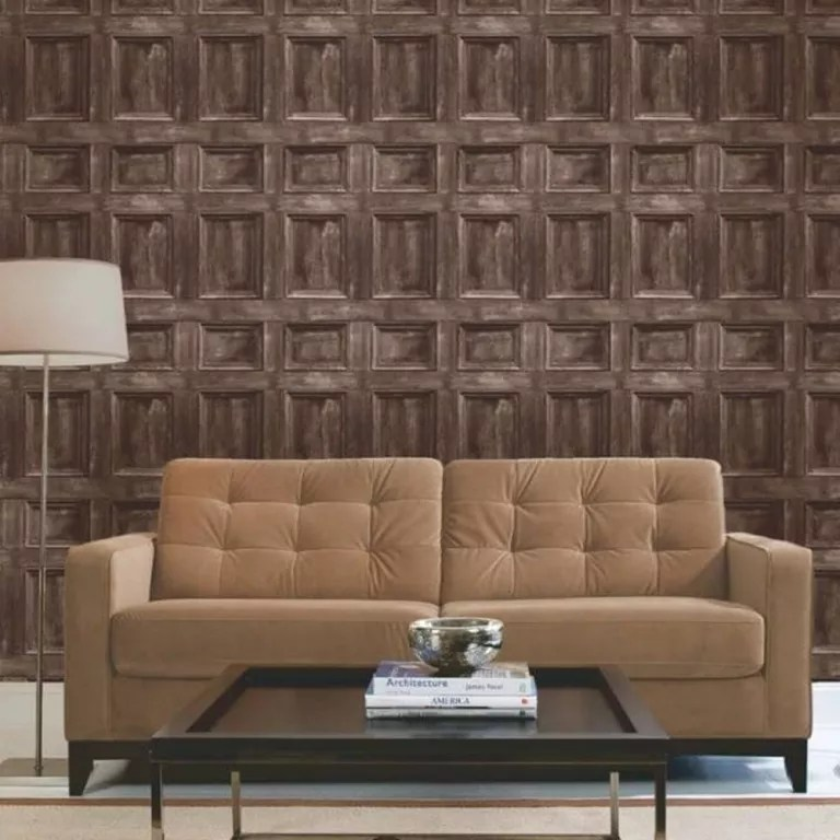 living room wallpaper bq rooms with dark leather furniture wood effect wallpapers our pick of the best ideal home b q panel for recreating classic panelling