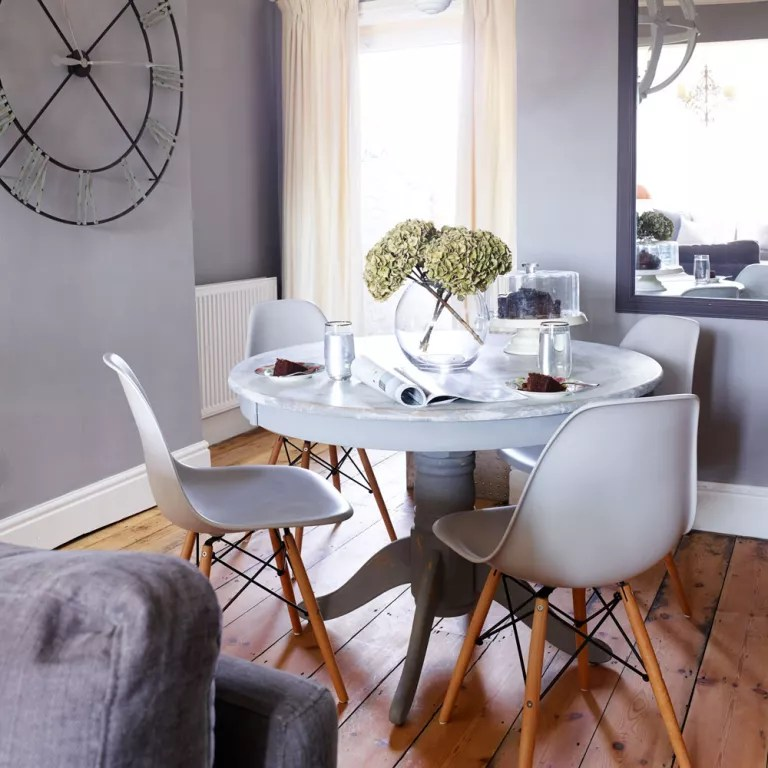 Grey dining room ideas  Grey dining room chairs  Grey