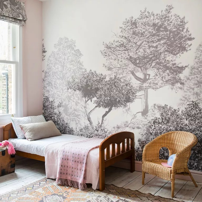 wallpaper ideas for living room feature wall decorating with wood stove walls paint 4