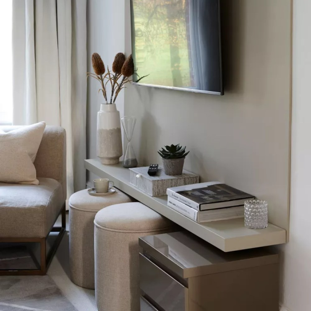 Small living room ideas wall-mounted TV
