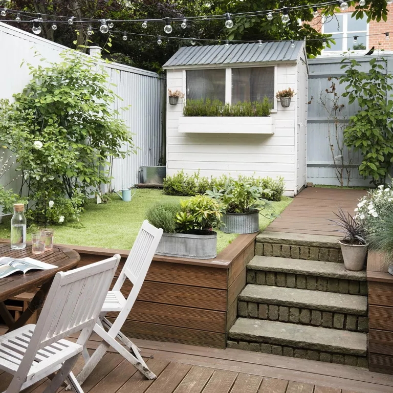 Small Garden Ideas – Small Garden Designs – Ideal Home   Outside Stair Design For Small House   2 Story   Cement Stair   House Chennai   Residential   Stair Room