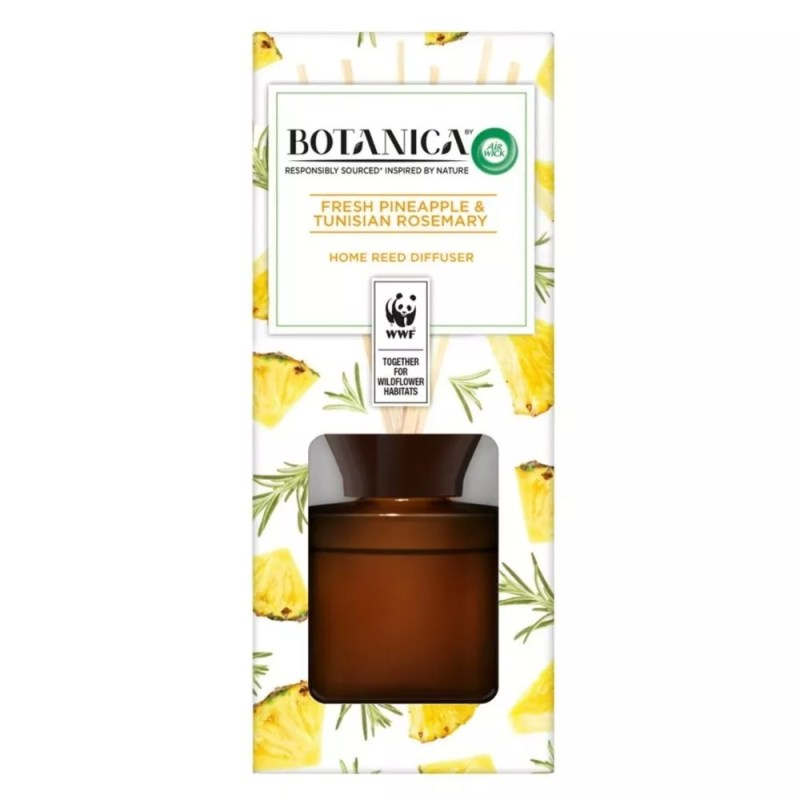 Botanica by Air Wick Air Freshener Reed Diffuser Fresh Pineapple and Tunisian Rosemary