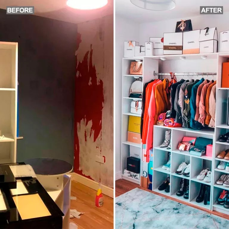 mum transforms dingy spare bedroom into