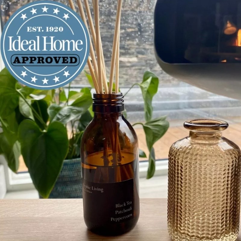Orphic Living Black Tea, Patchouli, Peppercorn Scented Reed Diffuser