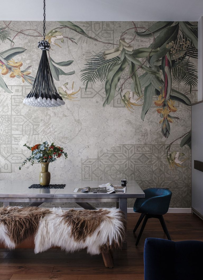 wall mural ideas for living room large canvas murals home decor the best and style wallpapers get look is from tres tintas in barcelona this 85 lamps pendant by droog table bench are timothy oulton
