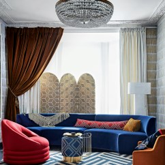 Delta Sofa Debenhams Accent Pillows Leather Decorating Trend Regimental Dress Livingetc Wall Papered In Fringe Wallpaper As Before Window Curtain On The Left Made Epoque Ochre M504 03 Cotton 125m Mark Alexander