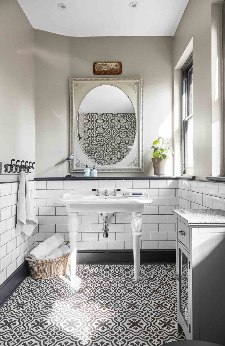 Bathroom Floor Tiles Ideas Pretty Encaustic Tiles To Add Pattern And Colour To Your Bathroom