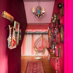 Neon Pink Chair Leg Noise Reduction See Inside Matthew Williamson 39s Eclectic Flamboyant