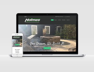 Holmes Landscapes Web Design by KSAVAGER Design & Photography Fayetteville NY