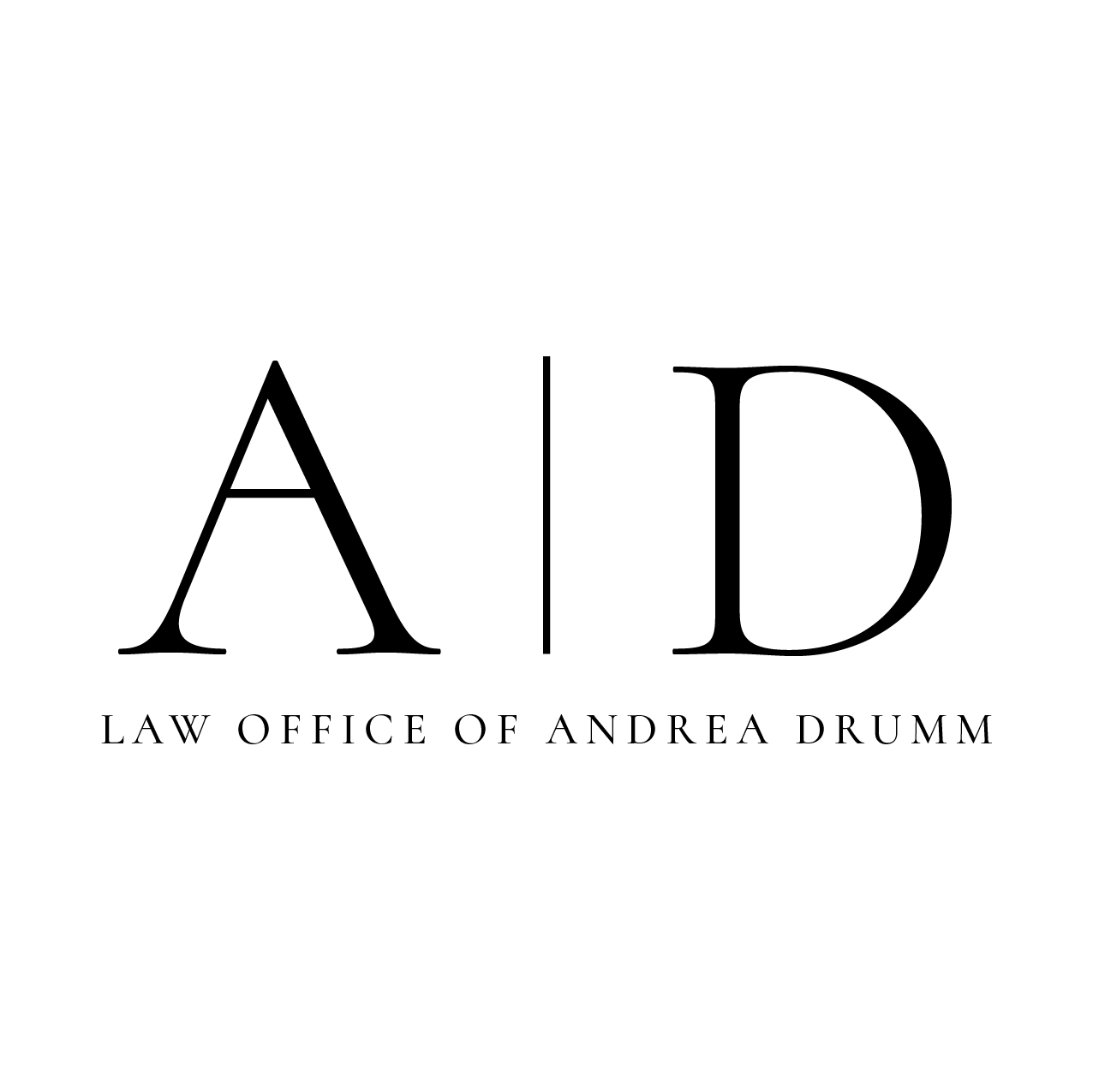 The Law Office of Andrea Drumm Logo Design Syracuse NY KSAVAGER Design & Photography Syracuse Graphic Designer Design Services