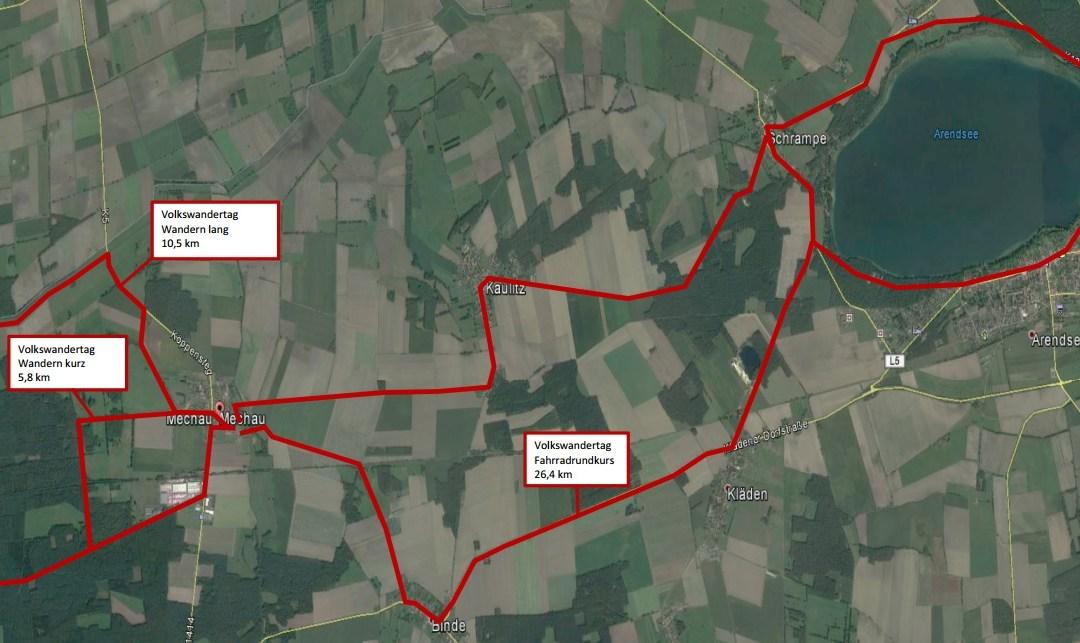 19. Volkswandertag in Mechau