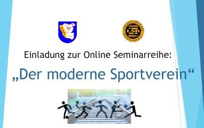 """Online Seminar """"Der Moderne Sportverein""""am 22.03.2021 und 06.04.2021"""