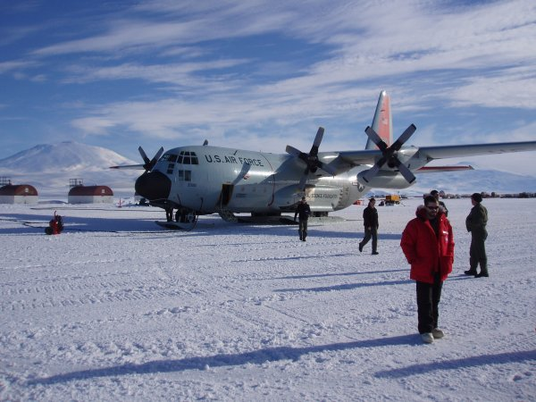 C-130 in McMurdo destined for South Pole
