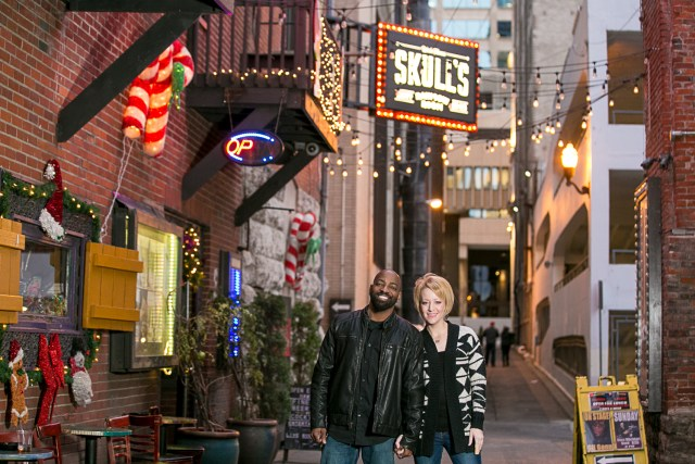 Printers Alley engagement Nashville TN