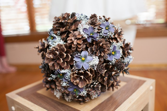 Acorn wedding bouquet