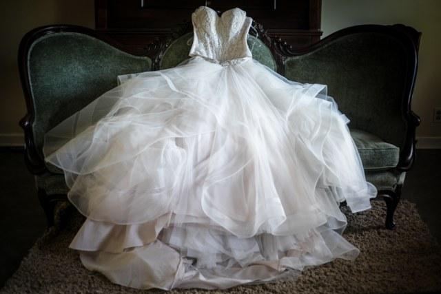 white room wedding dress