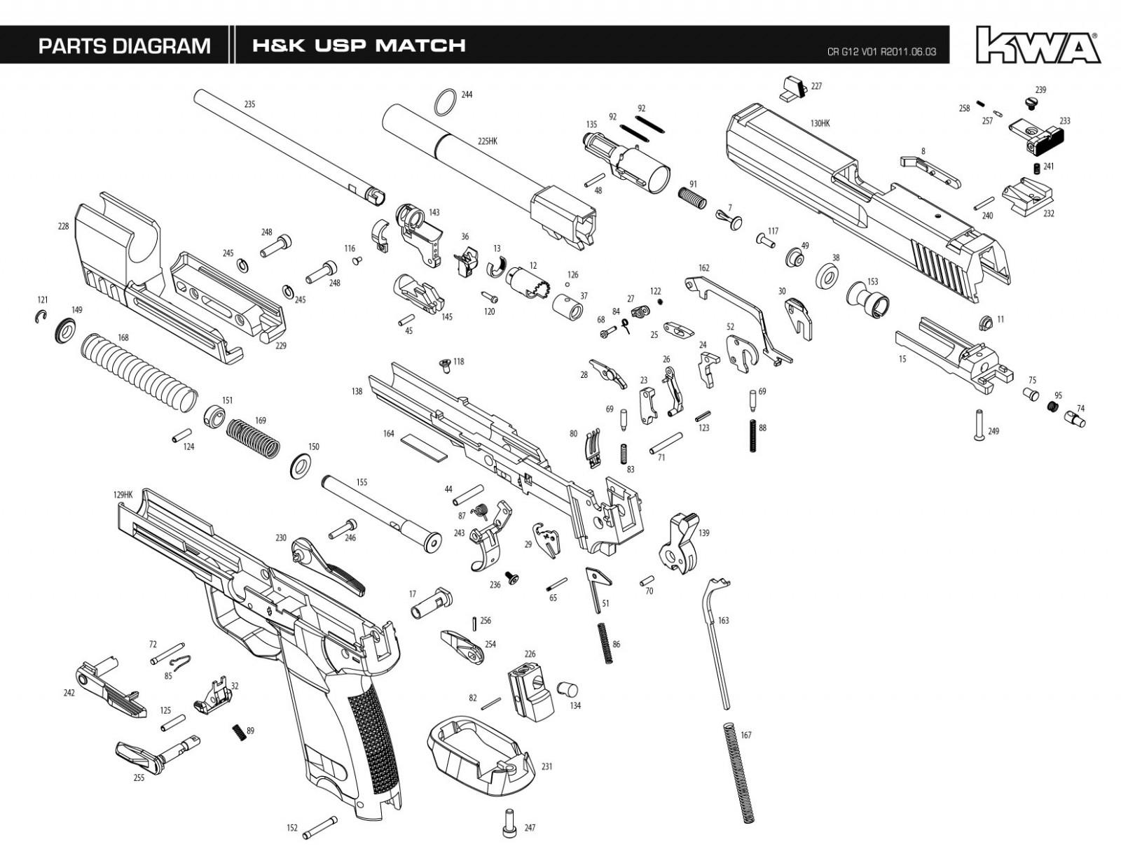 Kwa Umarex Usp Match Exploded Diagram Ksc Part Original Worldwide Shipping