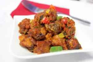 gizdodo served on white plate.