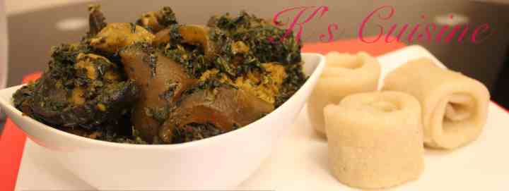 Edikainkong served with Eba