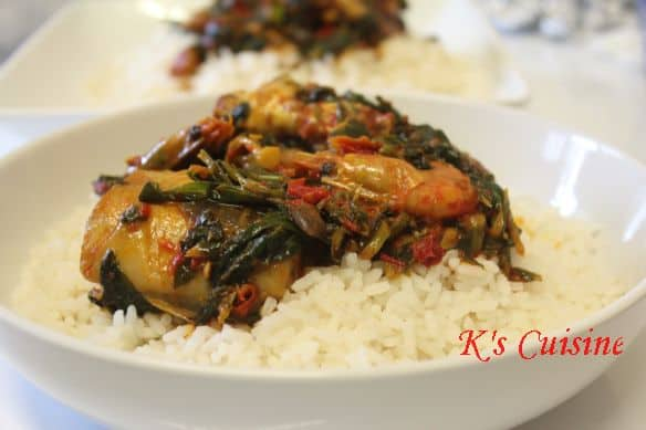 Rice with seafood eforiro