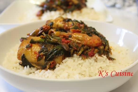 Rice with seafood eforiro