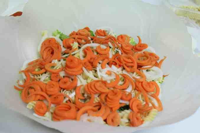 Spiralised salad
