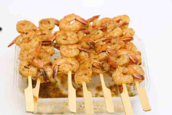Shrimp kebab