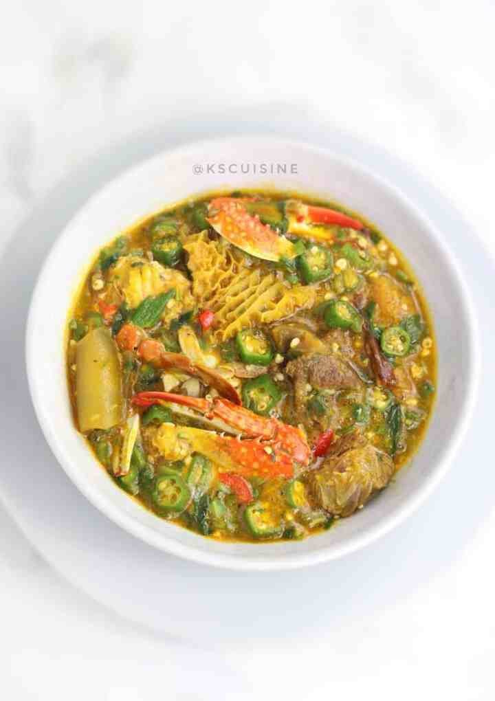 Seafood okro . how to make okro soup