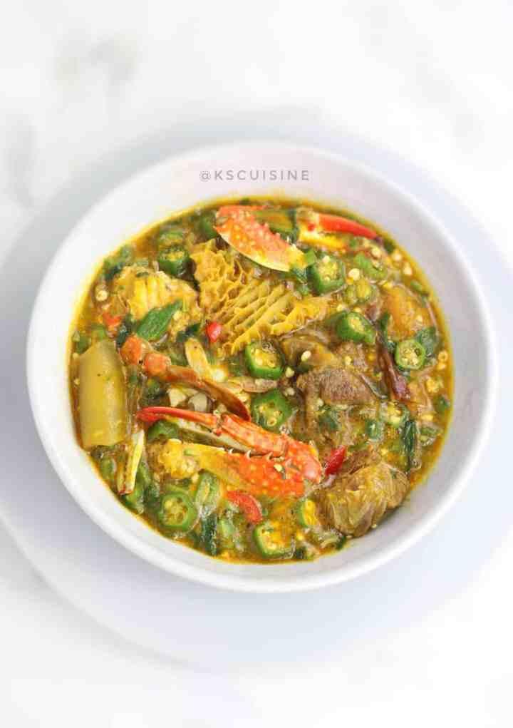 Seafood okro . how to make okro soup