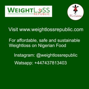 Weightloss Republic. Safe and Sustainable Weightloss on Nigerian diet