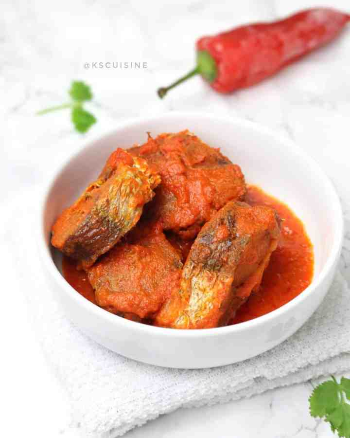 Nigerian Fish Stew - Fried Fish stew