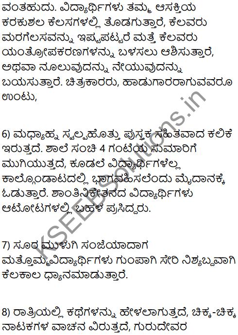 A Day in the Ashram Summary in Kannada 4