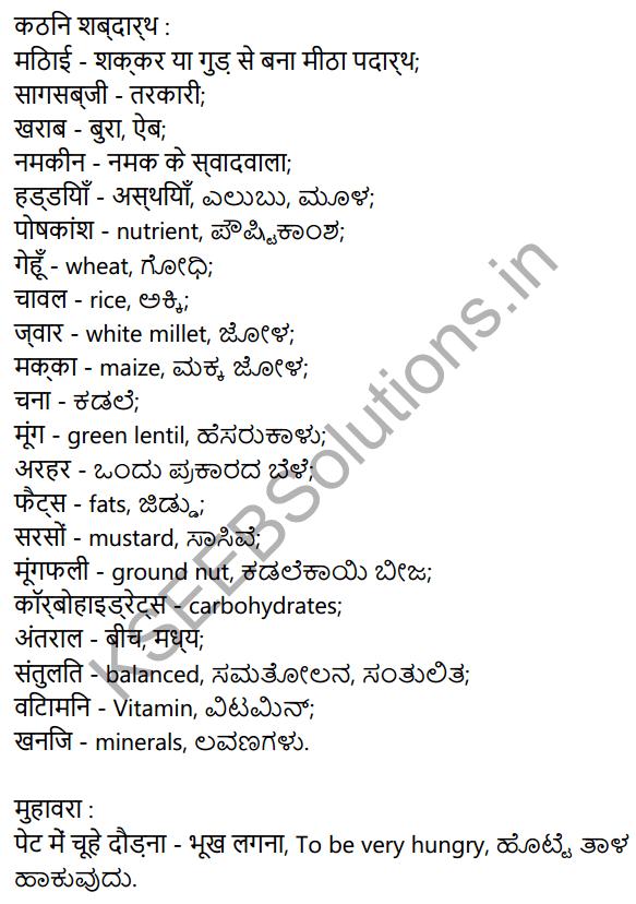 संतुलित आहार Summary in Kannada 4