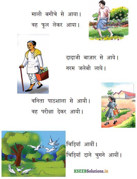 KSEEB Solutions for Class 6 Hindi वल्लरी Chapter 13 आया, आये, आयी, आयीं 1