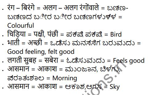 KSEEB Solutions for Class 6 Hindi वल्लरी Chapter 18 चिड़िया 1