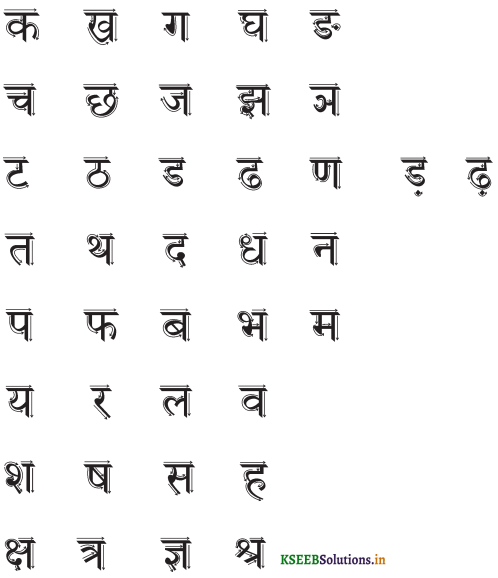 KSEEB Solutions for Class 6 Hindi वल्लरी Chapter 2 वर्णमाला 2