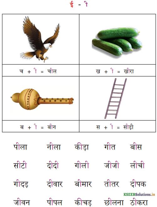 KSEEB Solutions for Class 6 Hindi वल्लरी Chapter 4 स्वर और उनकी मात्राएँ 3