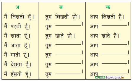 KSEEB Solutions for Class 6 Hindi वल्लरी Chapter 8 मैं, हम, तू, तुम, आप 3