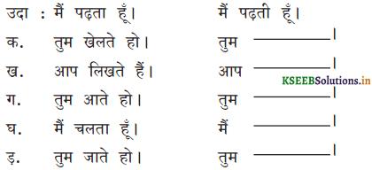 KSEEB Solutions for Class 6 Hindi वल्लरी Chapter 8 मैं, हम, तू, तुम, आप 7