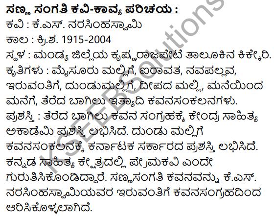 Sanna Sangati Summary in Kannada 1