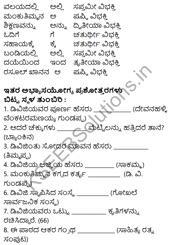 Siri Kannada Text Book Class 8 Solutions Gadya Chapter 4 Sarthaka Badukina Sadhaka 12
