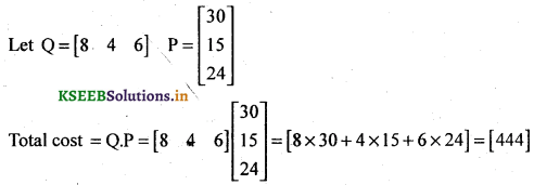2nd PUC Basic Maths Question Bank Chapter 1 Matrices and Determinants 21
