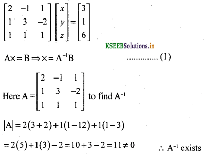 2nd PUC Basic Maths Question Bank Chapter 1 Matrices and Determinants 62