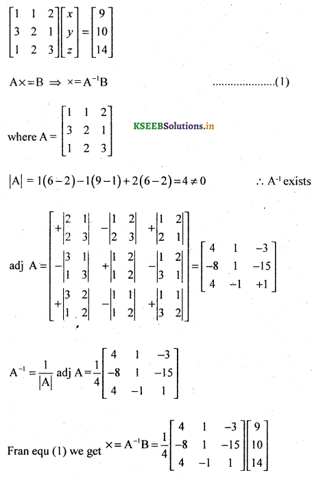2nd PUC Basic Maths Question Bank Chapter 1 Matrices and Determinants 65