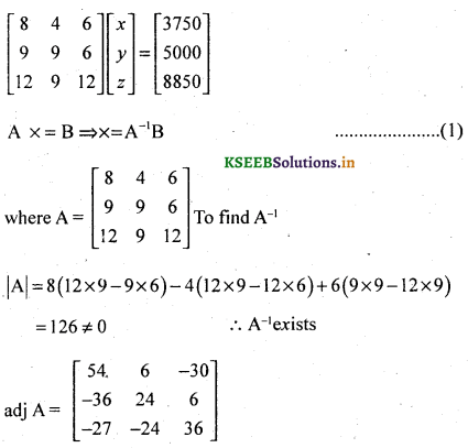 2nd PUC Basic Maths Question Bank Chapter 1 Matrices and Determinants 68